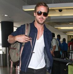Travel light this summer just don't forget your shades. Ryan Gosling in @persol. #heygirl #