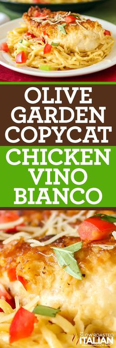 Copycat Olive Garden Chicken Parmesano Vino Bianco - creamy Parmesan white wine cream sauce, served over linguine, ready in just 30 minutes. Italian Dishes, Italian Recipes, Italian Pasta, Linguine, Pasta Dishes, Food Dishes, Main Dishes, Restaurant Recipes, Dinner Recipes