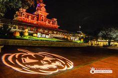 Magic Kindgom Entrance at Halloween