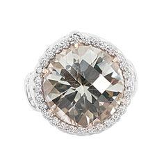 Alwand Vahan Ring with Diamonds White Topaz #SWAG