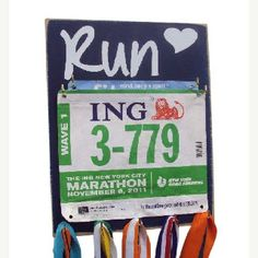 Race bib and medal holder! Love it!
