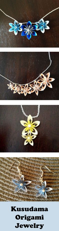 Gorgeous handmade paper jewelry for a wedding or everyday wear.