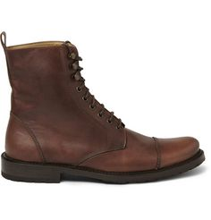 $450; Billy Reid Burnished-Leather Lace-Up Boots  | MR PORTER