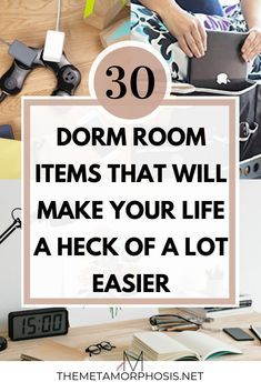 30 Things that will Transform Your College Dorm Room Switch up the prison cell aesthetic in your college dorm room and make it your own! These items will transform your college dorm room and make your life easier as a college student! Best College Dorms, College Dorm Checklist, College Packing Lists, College Dorm Essentials, College Fun, College Dorm Rooms, College Life, College Necessities, College Students