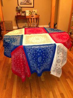 DIY bandana table cloth.