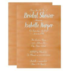 Copper & Pale Aqua Blue Bridal Shower Card - invitations custom unique diy personalize occasions