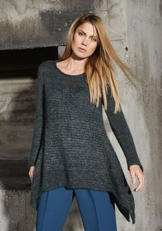 Lana Grossa ZIPFELPULLI GLATT RECHTS Tiffany/Lace Merino - FILATI No. 48 (Herbst/Winter 2014/15) - Modell 96 | FILATI.cc WebShop