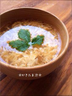 ☆かきたま汁☆ by ☆栄養士のれしぴ☆ [クックパッド] 簡単おいしい ...