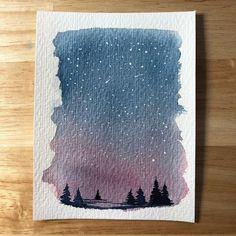 "1,809 Me gusta, 16 comentarios - Sarah Hernandez (@lostswissmiss) en Instagram: ""Little watercolour for this freezing Monday! The winner of the latest giveaway is @mzlle.minoe…"""