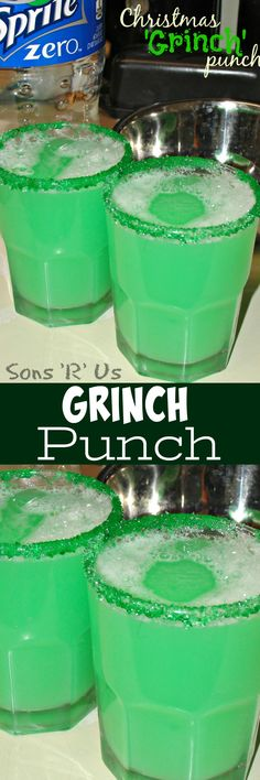 Christmas Grinch Punch is the perfect drink recipe to get everyone in the mood to celebrate this holiday season. It's quick, easy, and great for parties.