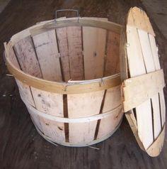 Crab bushel basket - for programs Crab Net, Bushel Baskets, Nautical Wedding Theme, Sense Of Place, Crates, Diy Projects, Crate Ideas, Buckets, Maryland