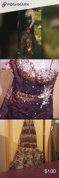 I just added this listing on Poshmark: Cheetah Print Mermaid Mori Lee prom dress. #shopmycloset #poshmark #fashion #shopping #style #forsale #Mori Lee #Dresses & Skirts