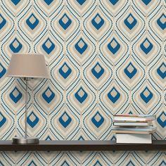 #Vliestapete Premium - #Vintage #Ornament - Mustertapete Quadrat #Muster #gemustert #Wanddeko #Farbenfroh #Formen #Wandgestaltung #mal #anders