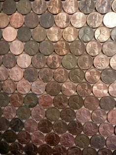 How to: Give Your Wall a Total Textural Makeover with Pennies! » Man Made DIY | Crafts for Men « Keywords: penny, wall, decor, diy