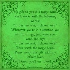 In this moment, I choose love.