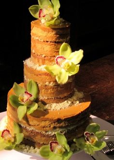 okay...on more naked wedding cake.  Milk Bar three tiered wedding cake in dulce de leche