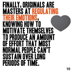 The main concepts from the book Originals, delightfully delivered in a beautiful 60 second package. Get the version of this book by singing up for a free account at www. Personal Development Books, Thing 1 Thing 2, The Book, Effort, Something To Do, Accounting, Leadership, Singing, Positivity