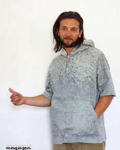 #Magazen - camasa albastru patat  #Lucruri #DePurtat #Afara Hooded Jacket, Athletic, Hoodies, Sweaters, Jackets, Stuff To Buy, Fashion, Jacket With Hoodie, Down Jackets