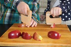 Safe knife for children ''Chop Chop'' maple