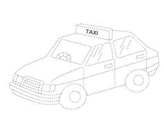 taxi trace | Crafts and Worksheets for Preschool,Toddler and Kindergarten