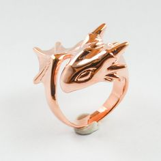 Rose Gold Dragon Ring by MONVATOOLondon on Etsy