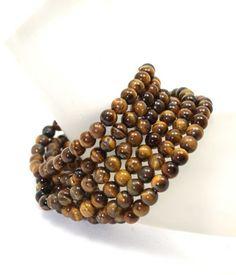 Six Golden Brown Tiger Eye Stretch Bracelets Set Tiger Eye Jewelry, Affordable Jewelry, Golden Brown, Stretch Bracelets, Bracelet Set, Natural Stones, Inspiration, Beautiful, Biblical Inspiration