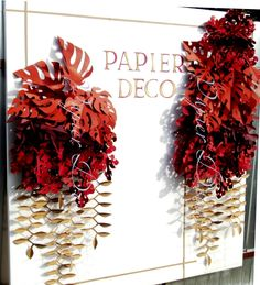 Paper Leaves Backdrop Fall Leaves Decorations by PapierDeco Wedding Table Flowers, Fall Wedding Decorations, Backdrop Decorations, Flower Decorations, Decor Wedding, Wedding Ideas, Paper Lanterns Party, Fall Wedding Arches, Wall Backdrops