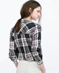 ZARA - WOMAN - CHECK SHIRT WITH POCKET