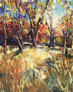 Glowing Field, oil with palette knife on canvas, 8x10, sold