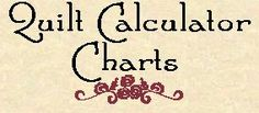Free Quilt Calculator Charts..arrives by email ... Several worthy chart calculations