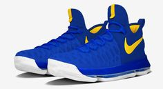 """These NIKEiD KD 9 """"Warriors"""" Colorways Are Available Now 