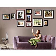 Moderne Wand Bilderrahmen-11er Set                              …
