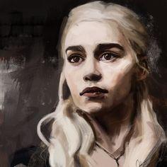Daenerys Targaryen by WisesnailArt