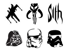 Star Wars Pumpkin Carving Stencils - Sith, Darth Vader, Stormtrooper, Clonetrooper