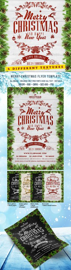 Christmas Party Flyer — Photoshop PSD #party #christmas gift • Available here →…