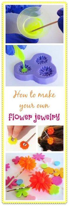 Resin Obsession blog: DIY Resin flower cabochons