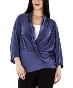 Love this Lilac Drape Surplice Top - Plus by La Mouette on #zulily! #zulilyfinds