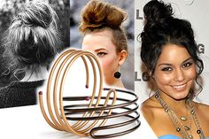 Video How-To: Messy Topknot using Goody Simple Styles Bun Spiral (I'll be buying one of these tomorrow...)