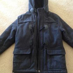 Boys wool blend winter coat Hawke & Co. Charcoal grey Size 7 boys winter coat.  Really good condition; very heavy! Hawke & Co Jackets & Coats