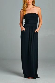 Strapless Maxi Dress – Sora & Company