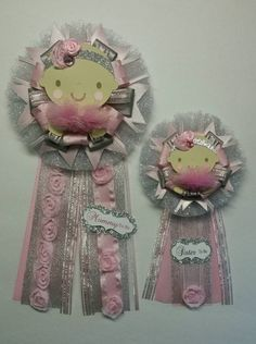 Check out this item in my Etsy shop https://www.etsy.com/listing/244364214/mommy-to-be-corsage-sister-to-be-pin