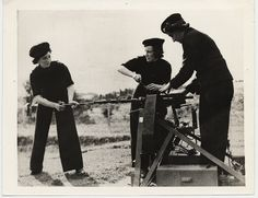 """Wrens Service Machine Guns -- Prior to the Second World War, women were not allowed in Canada's armed forces except as nurses. This policy was reversed beginning in 1941 and, in early 1942, recruiting began for the Women's Royal Canadian Naval Service, the """"Wrens"""". The women who joined performed many of the same duties as men, including equipment maintenance and communications, but did not serve aboard warships."""