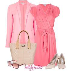 Pink Diane Von Furstenberg Head to Toe, created by kellylynne68 on Polyvore