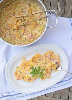 One Pot Pasta Zucchini Schinken
