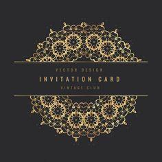 Cartão do convite do vintage Vetor grátis