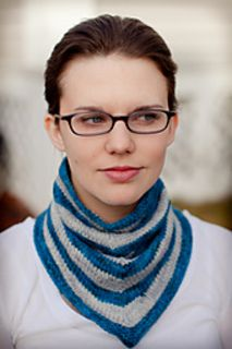 Katy & Kevin Cowl by Mari Chiba - great unisex cowl knit with 2 colors of Baah Sonoma DK weight yarn