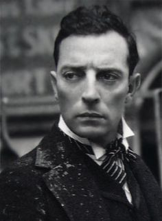 Buster Keaton - brilliant comic and film maker who did his own stunts (and once broke his neck in the process)