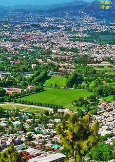 Brilliant nature beauty amazing aerial view of beautiful Abbottabad city Khyber Pakhtunkhwa Pakistan