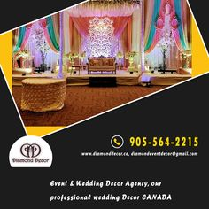 The diamond decor is top wedding decor in Mississauga, GTA, Canada. I and my team make your complete wedding memorable from start to end. We never compromise with decoration. Call us 905-564-2215. Diamond Decorations, Wedding Decorations, Corporate Events, Event Decor, Birthday Parties, How To Memorize Things, Baby Shower, Make It Yourself, Babyshower