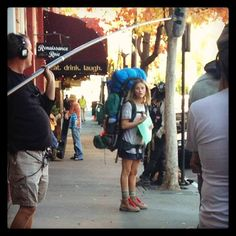 In front of Louie's on the set of Wild in Ashland, OR Oct 22, 2013. (Lynn Hyde photo)